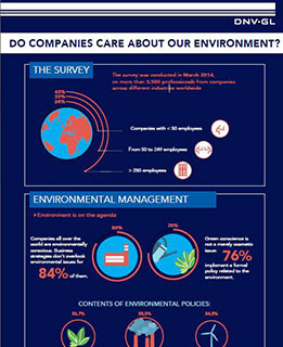 Do companies care about the environment - infographic- - survey by DNV GL
