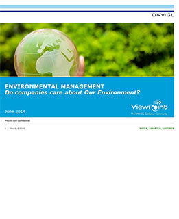 Do companies care about the environment  - survey by DNV GL